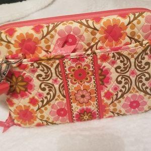 Vera Bradley mini peach laptop bag